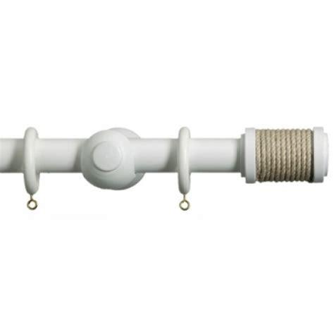 byron florentina 28mm wooden curtain pole bobbin matt white