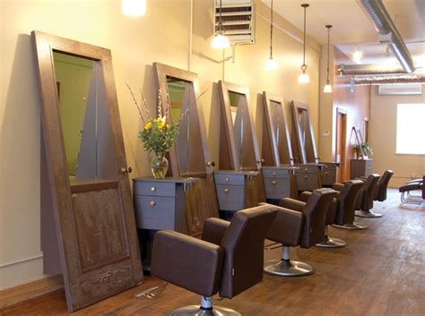 Rustic Hair Salon Stations