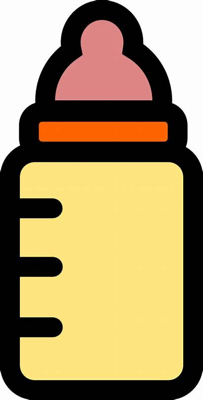 Bottle Clipart Icon Clip Milk Carton Orange