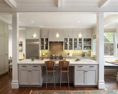 kitchen island with posts kitchen islands with columns design pictures remodel