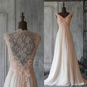 2015 Peach Perspective Bridesmaid Dress, Long Lace Prom ...