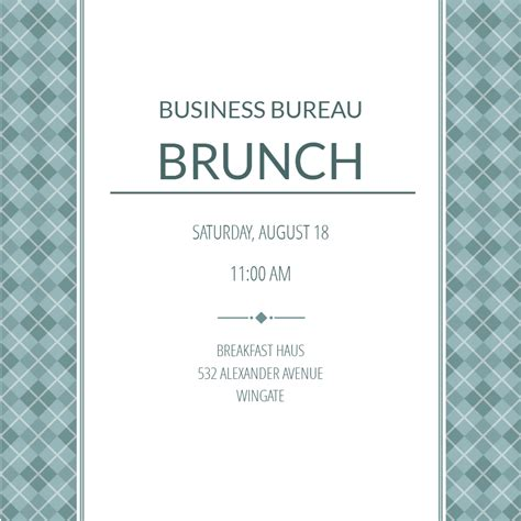 business casual business event invitation template