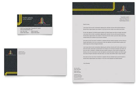 trucking transport business card letterhead template