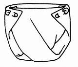 Diaper Drawing Template Coloring Sketch sketch template