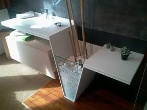 plan vasque en varicor sur mesures original bathroom With vasque sdb design