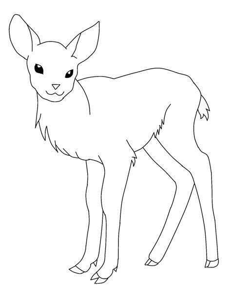 Coloring Deer by Deer Printable Coloring Pages