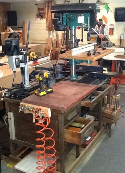 wooden desk turned multi tool work station  mainiac
