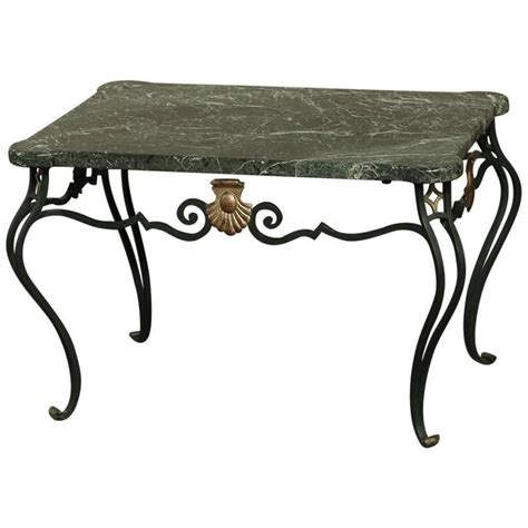 antique marble top coffee table antique italian hand crafted wrought iron marble top