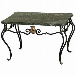 antique italian hand crafted wrought iron marble top With antique wrought iron coffee table