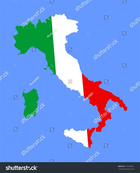 italy map flag stock vector high detailed vector map flag italy stock vector 176598161 ital