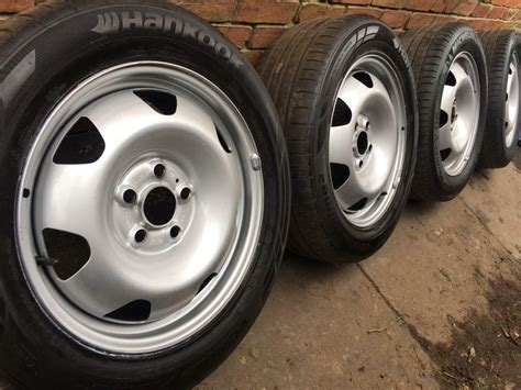 brand new genuine vw transporter t5 t6 17 quot steel wheels tyres t32 t30 alloy 18 can in