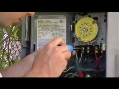 Grasslin Time Clock Wiring Diagram by Installing A Timer