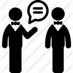 Talking Icon Transparent Conversando Person Clipart Dos