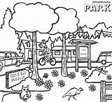 Park Coloring Pages Clipart Drawing Sheet Parks National Nature Leave Clip Colorings Coloringhome sketch template