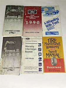 1990 Ford Bronco Ii Owners Manual Guide