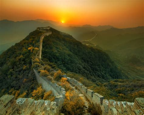 majestic great wall hd magnificent natural scenery