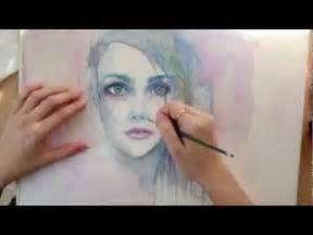 Watercolor Paintings of People Faces