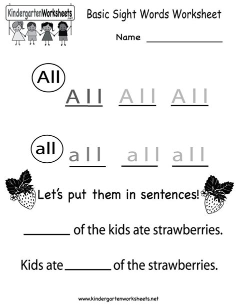 17 Best Images About English Worksheets On Pinterest  Opposite Words, English And Kindergarten