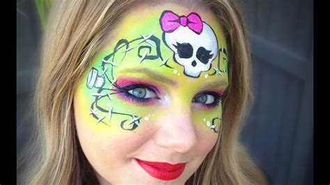 monster high makeup face painting tutorial frankie