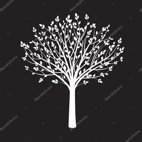 arvore vetor preto forma de arbol blanco sobre fondo