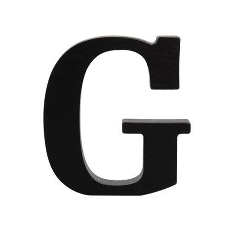 letter g wooden letter g black