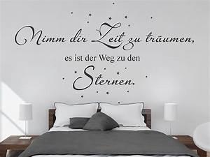 Zeit Fürs Bett : wandtattoo zeit zu tr umen mit sternen bei ~ Eleganceandgraceweddings.com Haus und Dekorationen