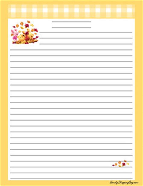 stationery thanksgiving pooh stationery stationery  printable ideas  family