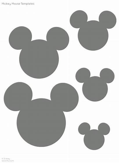 Mickey Mouse Minnie Stencil Silhouette Printable Templates