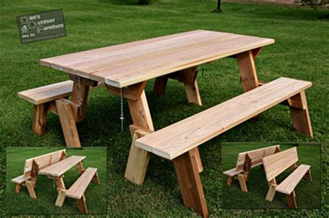 plans  picnic table bench combo plans diy