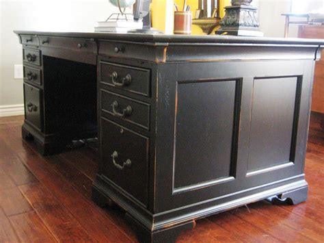 Distressed Black Executive Desk  Home Design  Black. Desk To Bed Conversion. Live Edge Dining Table For Sale. Cabinet Pull Out Drawers. Standing Desk Attachment. Slide Under Sofa Tray Table. Desks For Sale Amazon. Diy Folding Desk. Table Top Planter