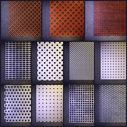 Perforated Panels 3d Panel Models Various Rg
