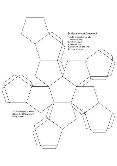 dodecahedron ornament printable