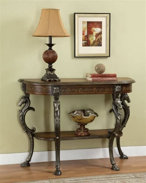 Entryway And Foyer Furniture by Powell Furniture Masterpiece Demilune Sofa Console