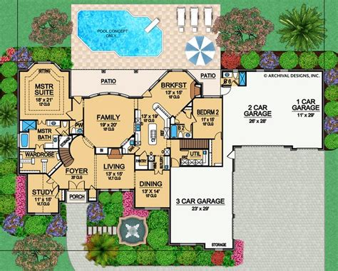 castle hill residential house plan luxury house plan archival designs