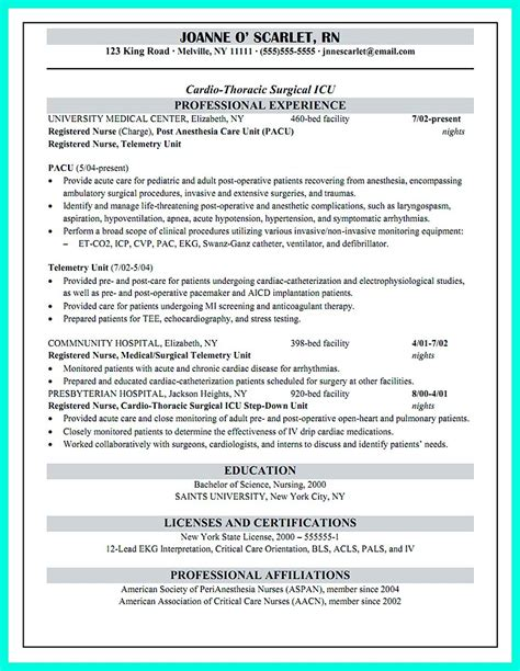 critical care resume has skills or objectives that