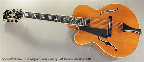 ted megas athena left handed  string archtop guitar