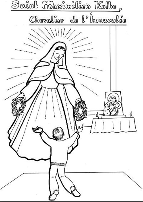 catholic coloring page depicting  blessed virgin mary