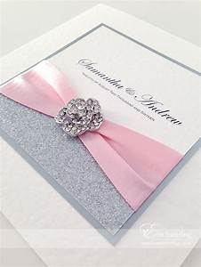 pink sparkly wedding invitations the cinderella With handmade wedding invitations cookstown