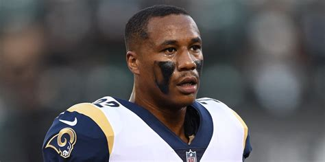 breaking rams cb marcus peters carted  field