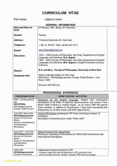 Resume Attractive Templates Format Normal Samples Updated
