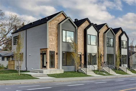 Town House : Modern Calgary Townhouse Breaks Record Price-the Globe