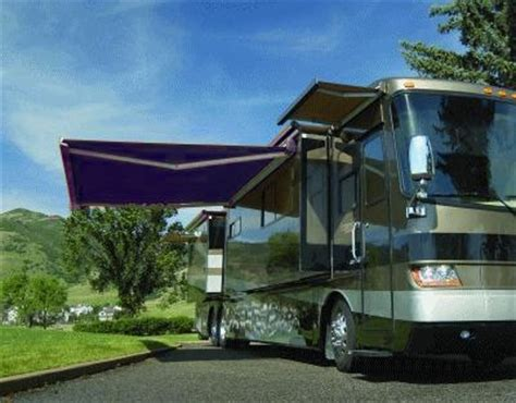 high quality blue    rv retractable patio awning