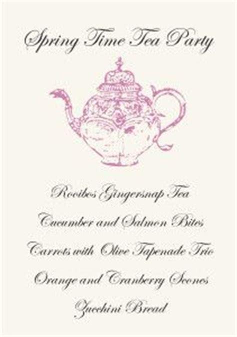 Tea Menu Template by Tea Free Printable Invitation Template