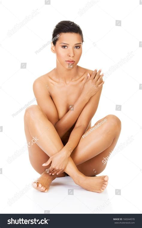 Beautiful Naked Women Sitting Covering Her Stock Photo Shutterstock