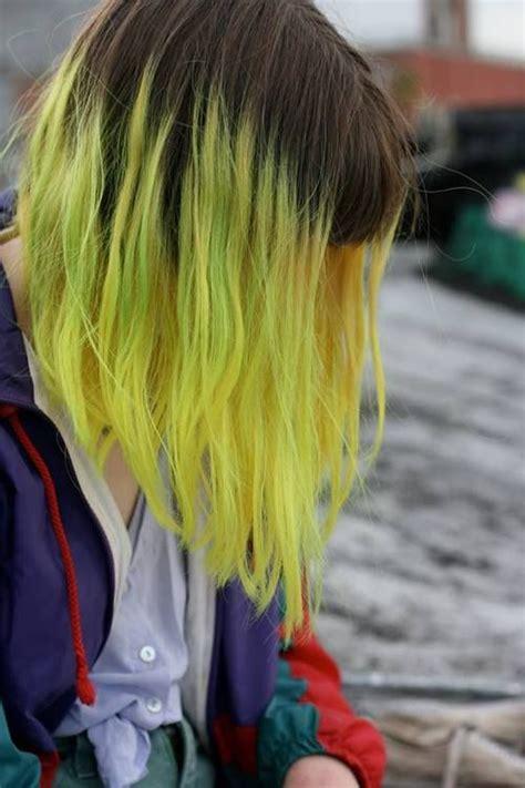 Yellow Balayage Hair