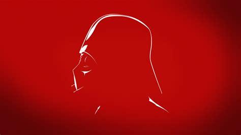 wallpaper darth vader red  minimal