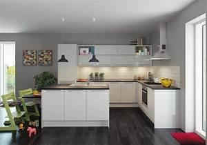 couleur peinture cuisine 66 idees fantastiques With cuisine peinte grise