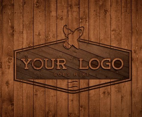 wood logo design psd titanui