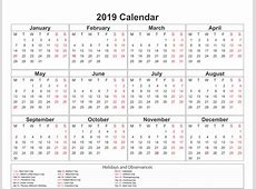 Free Federal Holiday 2019 VIC Templates Free Printable