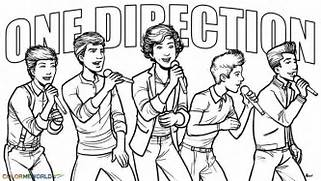 One Direction Coloring Pages For Girls In
